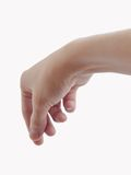 Keeping finger of the hand. Keeping hand is insulated on white background royalty free stock photo