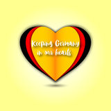 Keeping Germany in our hearts emblem Stock Images