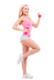 Keeping her body fit. Stock Photography