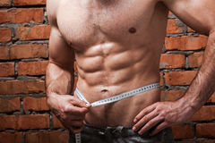 Keeping his body fit. Royalty Free Stock Photo