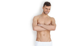 Keeping his body in good shape. Stock Photography