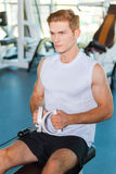 Keeping his boy fit. Stock Photography