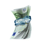 keeping money Frozen Stock Images