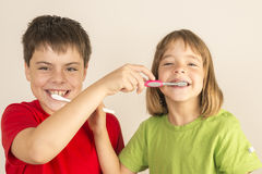 Keeping my teeth healthy Royalty Free Stock Photo