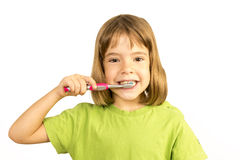 Keeping my teeth healthy Stock Image