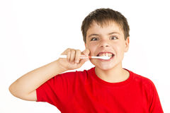 Keeping my teeth healthy Stock Photography
