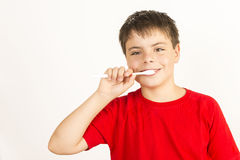 Keeping my teeth healthy Stock Photo