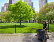 Keeping NYC Park Clean Royalty Free Stock Photos