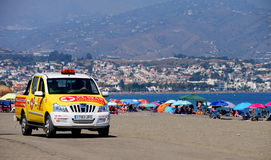 Lifeguards patrolling a Spanish beach. Stock Images
