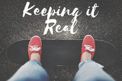 Keeping It Real Ideas Believe Choice Lifestyle Concept royalty free stock photos