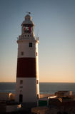 Keeping the sailors and their cargo safe. Gibraltars famous Lighthouse overlooking the Straits of Gibraltar Stock Photo