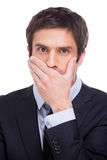 Keeping a secret. Royalty Free Stock Photo