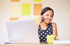 Keeping in touch with business partners Royalty Free Stock Photo