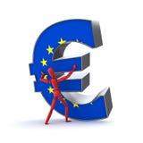Keeping up the Euro - European Union Flag Royalty Free Stock Photo