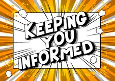 Free Keeping You Informed - Comic Book Style Word. Royalty Free Stock Images - 183275379