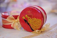 Keepsake lub prezent dla gościa w przyjęciu weselnym obrazy royalty free