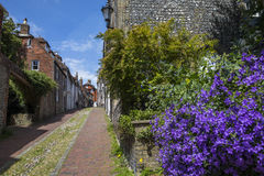 Keere Street in Lewes. A view of the pretty Keere Street in the historic town of Lewes in East Sussex, UK Stock Image
