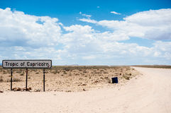 Keerkring van Steenbok, Namibië, Afrika Stock Foto's