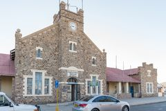 Historic post office in Keetmanshoop. KEETMANSHOOP, NAMIBIA - JUNE 13, 2017: The historic Kaizerliches Postampt post office, now a tourist bureau, in Stock Photos