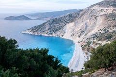 Kefalonia,希腊海岸线风景 免版税库存照片