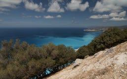 Kefalonia,爱奥尼亚人海岛在希腊 库存图片
