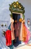 Kefalonia ö, Grekland - September 04 2013: Souvenir shoppar Fotografering för Bildbyråer