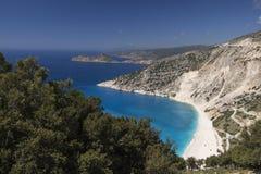 Kefalonia, залив Myrtos Стоковое Изображение RF