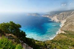 Kefalonia. Landscape and coast of Kefalonia, Greece Royalty Free Stock Image