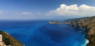 Kefalonia Asos landscape. A panorama of the Asos peninsula in Kefalonia, Greece Royalty Free Stock Photo