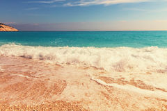 Kefalonia beach Royalty Free Stock Images