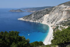 Kefalonia beautiful beach Myrtos  Royalty Free Stock Image