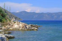 Kefalonia coastline and Ithaka island Royalty Free Stock Images