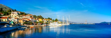 Greece-Kefalonia- Agia Evfimia Port2 stock images