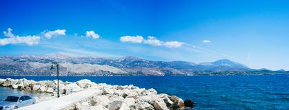 Greece-Kefalonia- Lixouri Port2 royalty free stock images