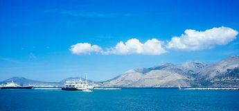 Greece-Kefalonia- Lixouri Port3 royalty free stock photography