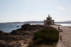 Kefalonia lighthouse Royalty Free Stock Photos