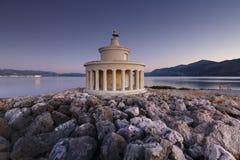 Kefalonia. Morning at the Lighthouse of Saint Theodoroi near the town of Argostoli on Kefalonia island in Greece Royalty Free Stock Photos