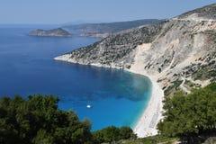 Kefalonia strand Myrtos Royaltyfri Bild