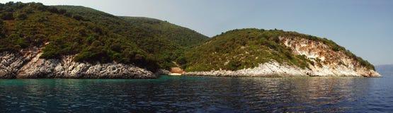 kefalonian panoramiczny Zdjęcie Stock
