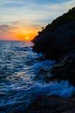 Kefalonian Sunset in the Ionian sea Stock Photos