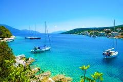 Kefaloniazeehaven, Griekenland Stock Foto