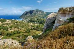 Kefalos海湾在Kos希腊海岛上的  免版税库存图片