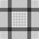 Keffiyeh blanco y negro para los hombres el templat del vector de Oriente Medio Imágenes de archivo libres de regalías