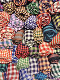 Keffiyehs, checkered cotton scarves Stock Images