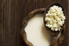 Kefir γάλακτος Στοκ εικόνα με δικαίωμα ελεύθερης χρήσης