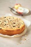 Kefir Cake met appelen, bessen en granola Royalty-vrije Stock Afbeeldingen