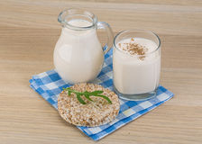 Kefir with crispbread Royalty Free Stock Images