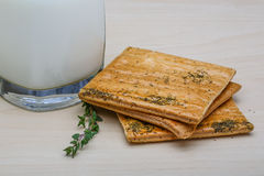Kefir with pastry Stock Images
