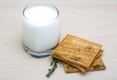 Kefir With Pastry Stock Image