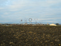 Keflavik Art. Keflavik town near international airport in iceland Royalty Free Stock Photo